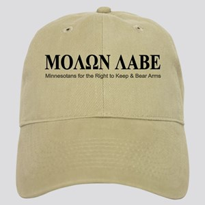 Molon Labe (black on white) Cap